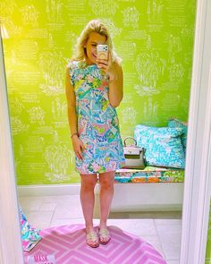 """KELLY PREPSTER on Instagram: """"Went to the @lillypulitzer store the other day and totally fell in LOVE with this gorgeous dress😍😍😍 (day in the life VLOG coming soon...I…"""" Gorgeous Dress, Falling In Love, Lily Pulitzer, Preppy, Store, Life, Instagram, Dresses, Fashion"""