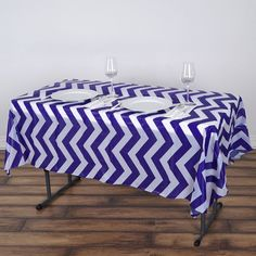 x Royal Blue Disposable Chevron Plastic Vinyl Rectangular Tablecloth Chevron Tablecloth, Vinyl Tablecloth, Plastic Tablecloth, Tablecloths, Picnic Table Covers, Plastic Table Covers, Plastic Tables, Waterproof Tablecloth, Turquoise Chevron