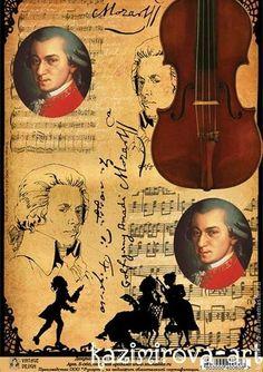 """Декупажная карта """"Моцарт в жженом"""" А-4 - бумага для декупажа,Декупаж,декупажная карта"""