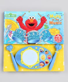 Rock out with fuzzy friends from Sesame Street in this interactive musical book. Complete with a built-in drum that displays blinking lights to the rhythm and featuring two detachable drumsticks, it engages bitty band members in a jam-packed auditory adventure.
