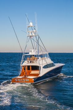 Photos, specifications and more for Bayliss Boatworks Dirty Mines, a custom sportfishing yacht. Deep Sea Fishing Boats, Sport Fishing Boats, Riva Boat, Yacht Boat, Sailing Boat, Sailing Ships, Yacht Design, Speed Boats, Power Boats