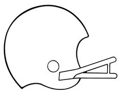 Football helmet - Free Printable Coloring Pages