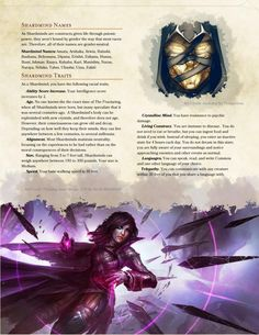 DnD Homebrew — Shardmind Race by Braggadouchio Dungeons And Dragons Races, Dungeons And Dragons Classes, Dungeons And Dragons Homebrew, Dnd 5e Races, D D Races, Dnd Characters, Fantasy Characters, Science Fiction, Dnd Classes