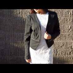 Dark Gray Blazer Unique and fabulous. Will add some awesomeness to anyone's work outfits. Feel free to make an offer via offer button only.  •NO TRADES• Philosophy Jackets & Coats Blazers