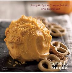 Tastefully Simple Fall-Winter 2014 Pumpkin Spice Cheese Ball Mix