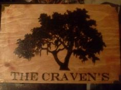 Customized Wood Burned Boxes by Knebel's Kreations - The Live Oak