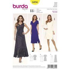 Burda 6894 Women's Dress 10 - 20   Spotlight Australia