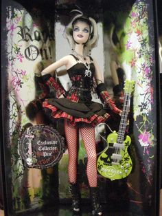 #barbie #doll #rock with #guitar! #cool #hardrock #collection
