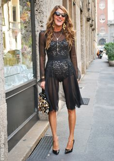 She wears up to 90 different outfits for fashion week (changing looks three times a day.) Anna Dello Russo has also said she pays retail for her designer looks, which make her outfits — which she only wears once — extremely pricey.