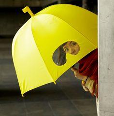 umbrella with goggles!