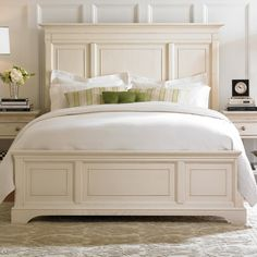 American Drew Ashby Park Storage Panel Bed - I love the look of this bed but my legs would be bruised all the time walking around it to make it up.