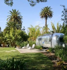 I wish I had my dad's old Airstream.. it was gorgeous... I would put it in the back yard.  :)   somehow lol