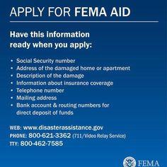 In casa of an emergency FEMA can help! #davilaland #landsurveyors #homeinspection #engineer #miamirealestate #fema #femaaid