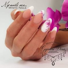 When you might want to do manicure or pedicure in the home, it is critical to possess expertise in it. Long Nail Art, Trendy Nail Art, Pin On, Flower Nails, Nail Art Galleries, Mani Pedi, Nail Arts, Pink Nails, Wedding Nails