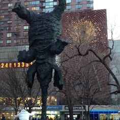 upside down elephant @ union square park, nyc.