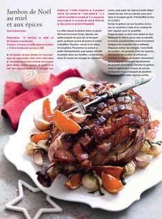 Jambon de Noel au miel et aux épices - Marie Claire Idées Décembre 2013