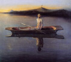 """""""Man in a Boat"""" by Odd Nerdrum ::: #Art #Painting"""