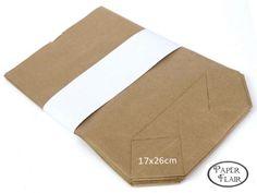 Papiertüten Kraftpapier 17x26cm, 25 Stck.