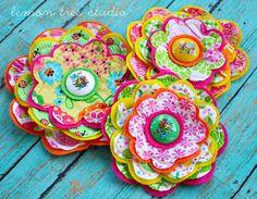 NEW Fresh Picked Flowers Erica  Handmade Fabric by LemonTreeStudio, $13.95