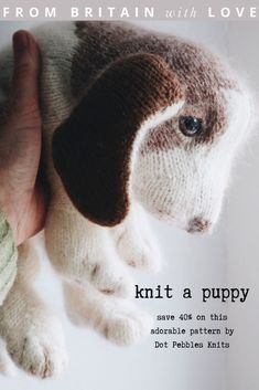I wanted to share this adorable new puppy knitting pattern by Claire Garland (aka Dot Pebbles Knits) with you. It's available to buy on Etsy and we are offering our readers a unique 40% off discount code until the end of July - so why not make some puppy love? Claire also shares her expert tips and advice for making yours just like hers #knitting #pattern #puppy #etsy #discount #frombritainwithlove Willow Weaving, Basket Weaving, Easy Knitting Patterns, Hand Knitting, Creative Things, Cool Things To Make, Free Puppies, Diy Step By Step, Creative Workshop