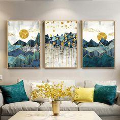 Abstract Canvas, Wall Canvas, Canvas Art, Blue Canvas, Diy Canvas, Landscape Walls, Mountain Landscape, Landscape Paintings, Mountain View