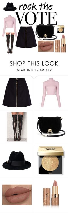 """""""Rock the Vote in Style"""" by dancerjacy22 ❤ liked on Polyvore featuring Acne Studios, A.L.C., Diane Von Furstenberg, Gucci, Bobbi Brown Cosmetics, tarte and rockthevote"""