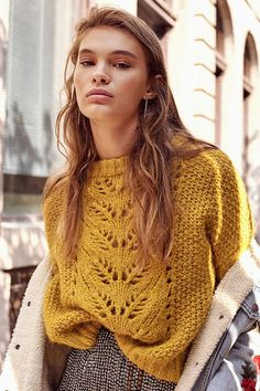 Free and This winter Best Crochet Sweater Patterns 2020 Part 7 Free and This winter Best Crochet Sweater Patterns 2020 Part 7 ; knitting sweaters for beginners; knitting sweater p. Knitwear Fashion, Knit Fashion, Pull Crochet, Knit Crochet, Free Crochet, How To Purl Knit, Jumpers, Knit Cardigan, How To Wear