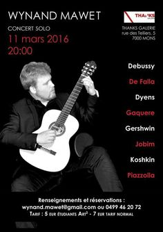 Concert de Wynand Mawet - Le 11 mars