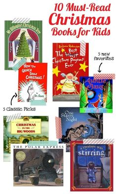 Classic and soon-to-be classic Christmas books picked by a children's librarian. #christmasbooks #kidsChristmasbooks #Christmaspicturebooks