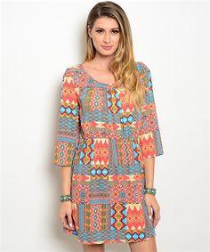 Women's Bright Multi-Colored Boutique Dress | Cali Boutique | FREE U.S. shipping!