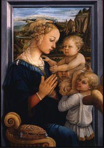 Filippo Lippi - Vierge a l Enfant avec deux anges
