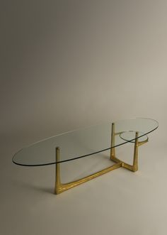 Félix Agostini; Cast Bronze and Glass 'Phoebe' Coffee Table, 1964.