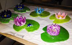 Lilypad & Flower Clay Lesson -pinch pot & slab clay methods