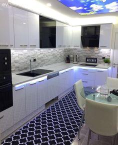 Modern and stylish with tasteful details: Hülya's new kitchen . – Home Decor Kitchen Interior, Kitchen Cabinet Doors, Cabinet Door Designs, Kitchen Decor, Home Decor, New Kitchen, Kitchen Furnishings, Door Design Modern, Kitchen Design