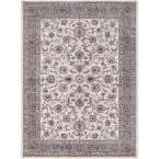 Kashan Bergama Ivory 7 ft. 10 in. x 9 ft. 10 in. Area Rug