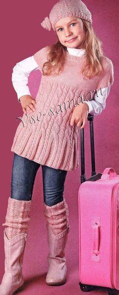 Knitting For Kids Knitting For Kids, Baby Knitting Patterns, Crochet For Kids, Knitting Designs, Free Knitting, Knit Crochet, Baby Sweaters, Girls Sweaters, Motif Kimono