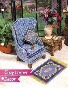 DIY Barbie Furniture with plastic canvas | Over 100 FREE Cross-Stitch, Plastic Canvas, Beading and Crochet