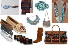 I love Native American inspired clothing and accessories.