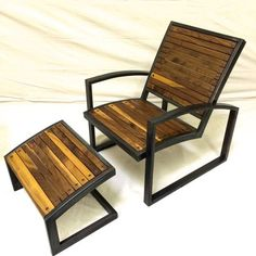 Modern Steel Lounge Chair by ImperialMetalwerks on Etsy