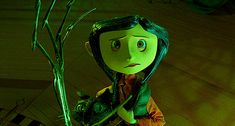 "[GIF] Coraline Jones and the Cat with the Other Mother/Beldam — ""Coraline"" Coraline Costume, Coraline Movie, Coraline Art, Coraline Jones, Coraline Aesthetic, Retro Aesthetic, Other Mother Coraline, Horror, The Secret World"
