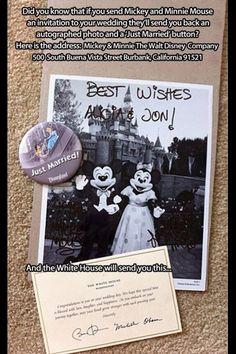 Disney wedding invitation life hacks
