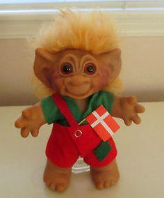 Orig. Dam LYKKETROLL 1950's Sawdust Stuffed Boy Troll