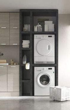 """Acquire excellent recommendations on """"laundry room storage small spaces"""". They are actually accessible for you on our web site. Small Laundry Rooms, Laundry Room Storage, Laundry Room Design, Bathroom Storage, Kitchen Storage, Small Bathroom, Bathroom Faucets, Clothes Storage, Bathroom Mirrors"""