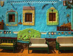 Nubian Village Tour from Aswan, Aswan Excursion to Nubian Village Beautiful Dream, Beautiful Places, Village Tours, Friedensreich Hundertwasser, Art Et Architecture, Adobe House, Egypt Travel, Chula, Earthship