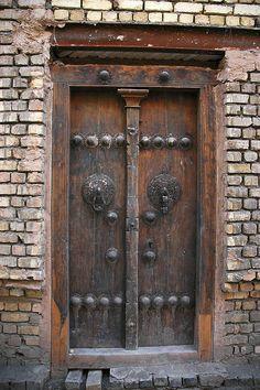 Wood door. Iran