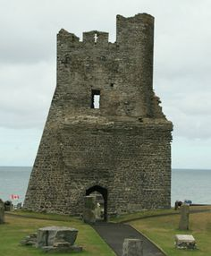 Aberystwyth Castle - It dates from 1277, and was constructed a mile away from the site of the first castle which was started in 1110 and then was destroyed twice and rebuilt three times. The new castle was captured by the Welsh in 1282 and again in 1403.