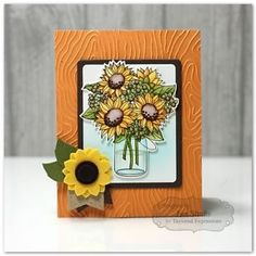 Taylored-Expressions-cling-mounted-rubber-stamp-amp-metal-die-SUNFLOWER-BOUQUET #brittanysangel