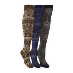 MUK LUKS® 3-pk. Over-the-Knee Socks  found at @JCPenney