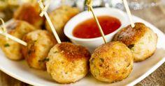 Pesto Chicken Veggie Meatballs - Children of America - Childcare & Daycare Veggie Meatballs, Tasty Meatballs, Chicken Meatballs, Turkey Meatballs, Thai Chicken, Pesto Chicken, New Cooking, Cooking Recipes, Sweet Chilli Sauce