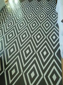 The Fabulous Design File: DIY: Painted Floor Mat